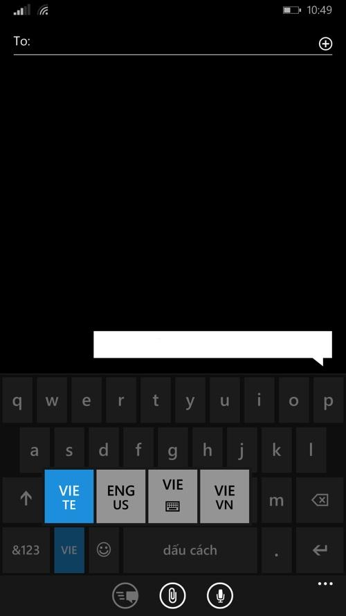 Gõ Tiếng Việt kiểu VNI và TELEX trên Nokia Lumia 930
