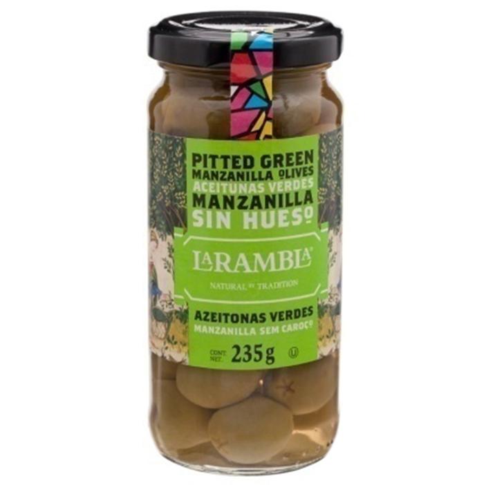 Quả Olive Xanh Không Tách Hạt La Rambla Green Olives (235g)