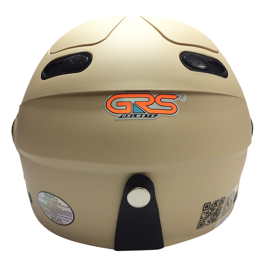 Mũ Bảo Hiểm GRS A102K - Sữa Nhám Line Sữa