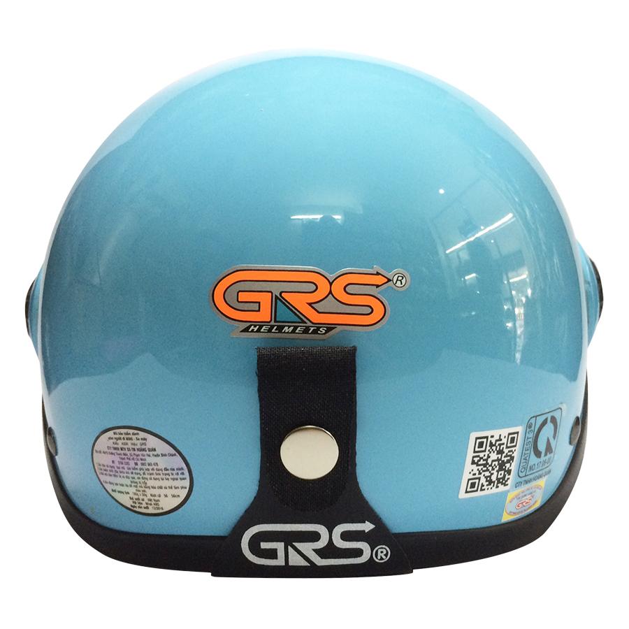 Mũ Bảo Hiểm GRS A33K - Xanh Nhạt Bóng