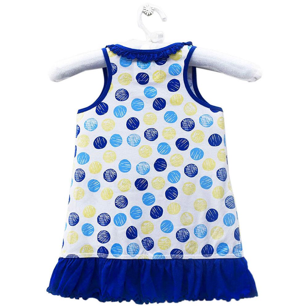 Đầm Thun Hai Dây Bé Gái Kavio GS08-N1 Kids - Xanh Coban