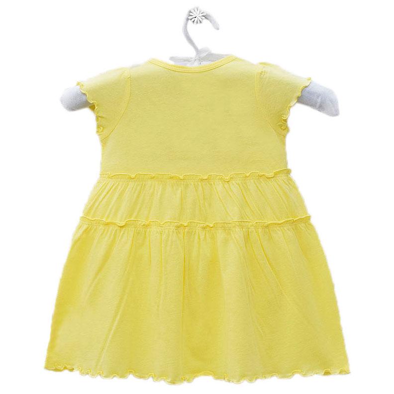 Đầm Tay Ngắn Bé Gái In Hình Bướm Kavio Kids GS463-N1 - Vàng