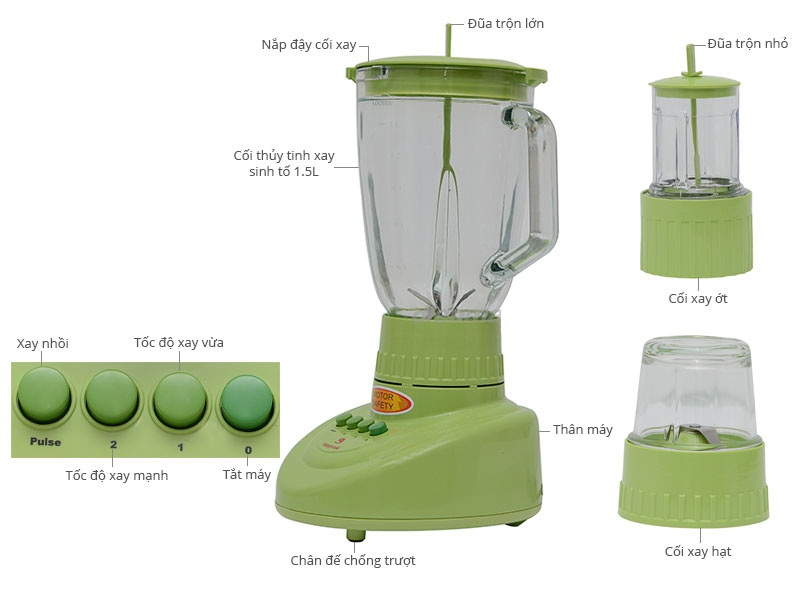 Máy xây sinh tố Happy Cook HCB- 150B