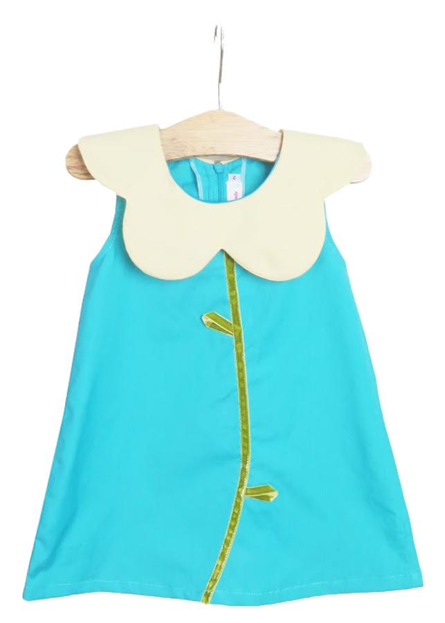 Đầm Caro Đính Nơ Bé Gái CucKeo HC 232 - Đỏ