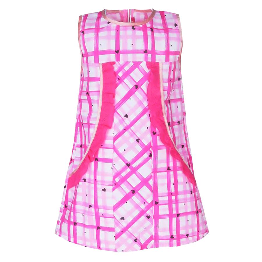 Đầm Suông Bèo Túi Caro Cuckeo HC 612 - Hồng