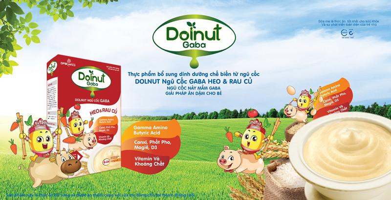Ngũ Cốc Ăn Dặm Dolnut Gaba Heo Và Rau Củ