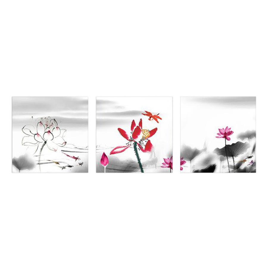 Tranh Đồng Hồ Treo Tường 3 Tấm Thế Giới Tranh Đẹp HH00251-DH