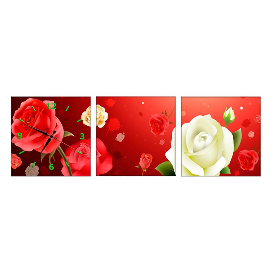 Tranh Đồng Hồ Treo Tường 3 Tấm Thế Giới Tranh Đẹp HH00257-DH