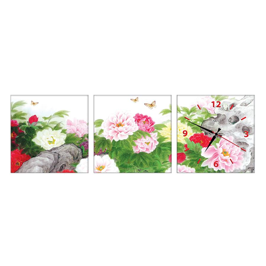 Tranh Đồng Hồ Treo Tường 3 Tấm Thế Giới Tranh Đẹp HH150-DH