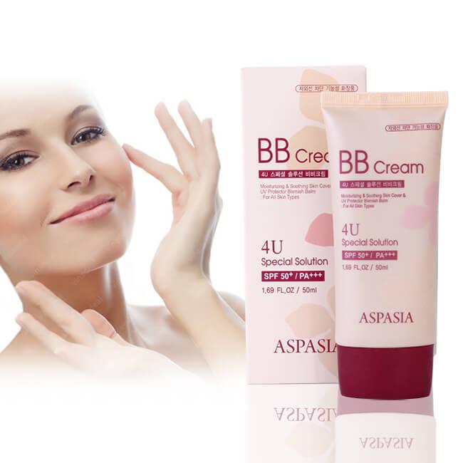Kem Nền Aspasia 4U Special B.B Solution Cream SPF50 PA+++ (50ml) 2