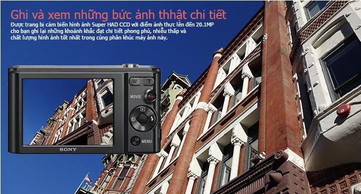 Chụp hình sắc nét với  cảm biến Super HAD CCD độ phân giải 20.1 MP