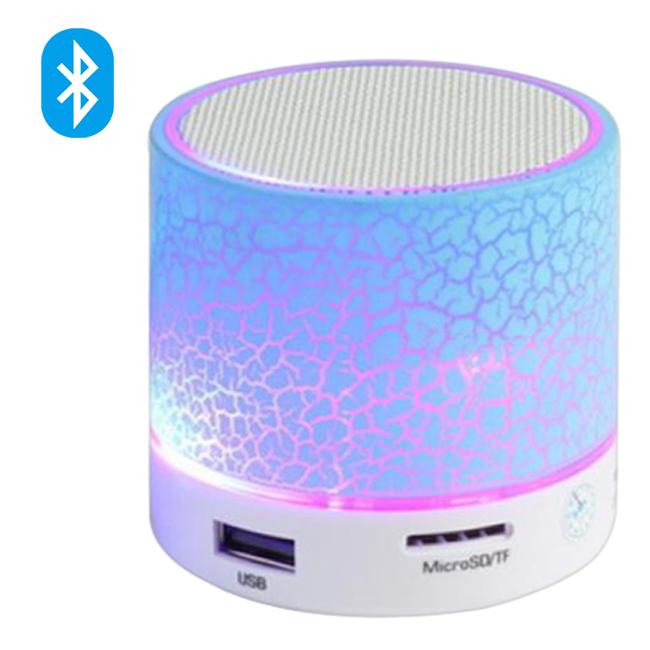 Loa Mini Bluetooth OEM HLD-600 Led Nháy Theo Nhạc - Màu Trắng - Hàng Nhập Khẩu