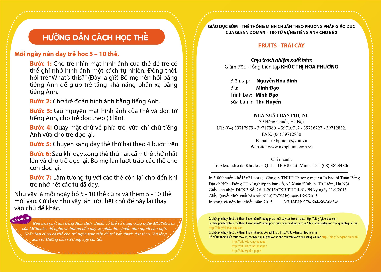 Flashcard Dạy Trẻ Theo Phương Pháp Glenn Doman - Trái Cây