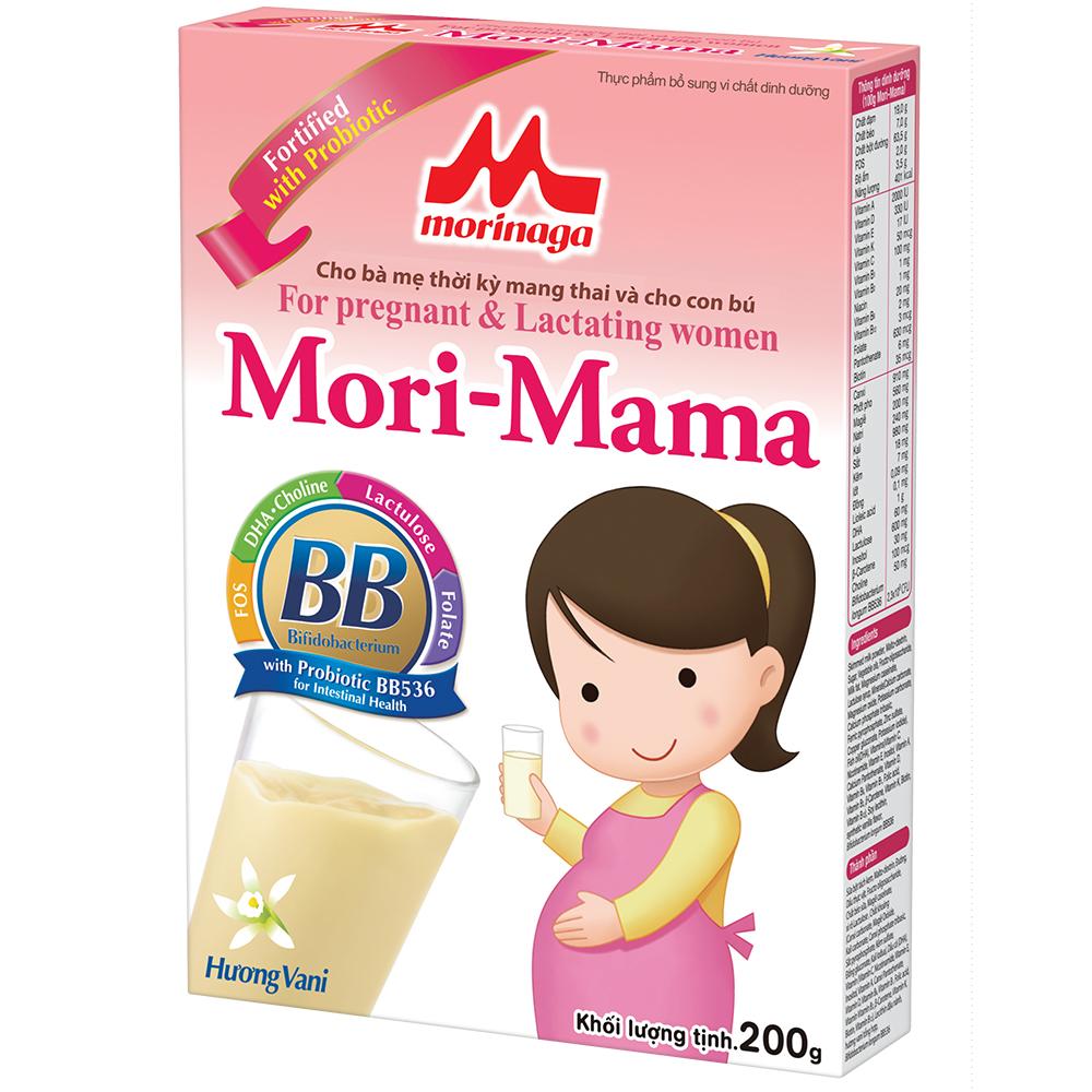 Thực Phẩm Tăng Cường Vi Chất Dinh Dưỡng  Mori Mama Hương Vani (200g)