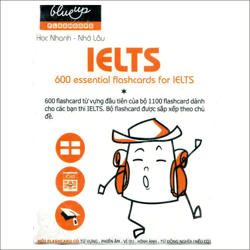 Hộp Blueup IELTS 600 Essential Flashcards For IELTS - Phần 1 - Alphabook