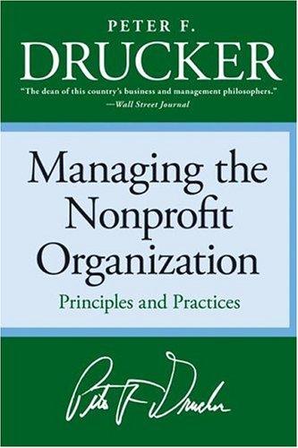 Managing the Nonprofit Organization