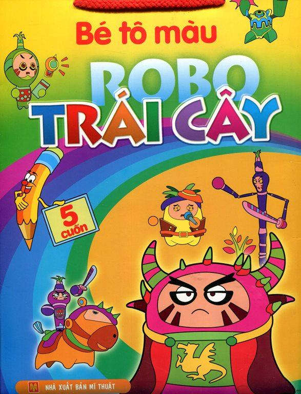 Bộ Túi Bé Tô Màu Robo Trái Cây (Trọn Bộ 5 Cuốn) - 8935095614233,62_136250,70000,tiki.vn,Bo-Tui-Be-To-Mau-Robo-Trai-Cay-Tron-Bo-5-Cuon-62_136250,Bộ Túi Bé Tô Màu Robo Trái Cây (Trọn Bộ 5 Cuốn)