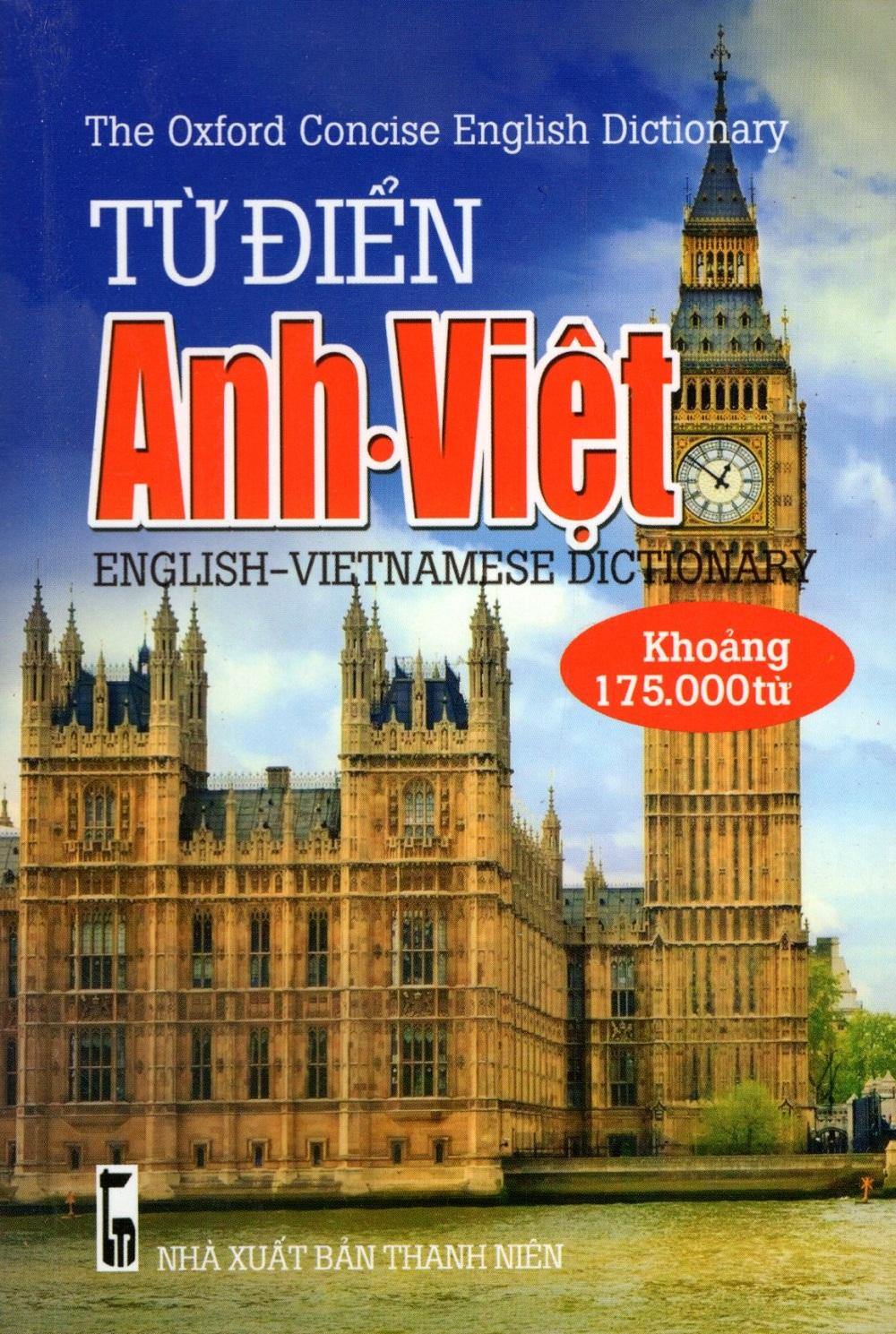 Từ Điển Anh - Việt (Khoảng 175.000 Từ - 2016) - Sách Bỏ Túi
