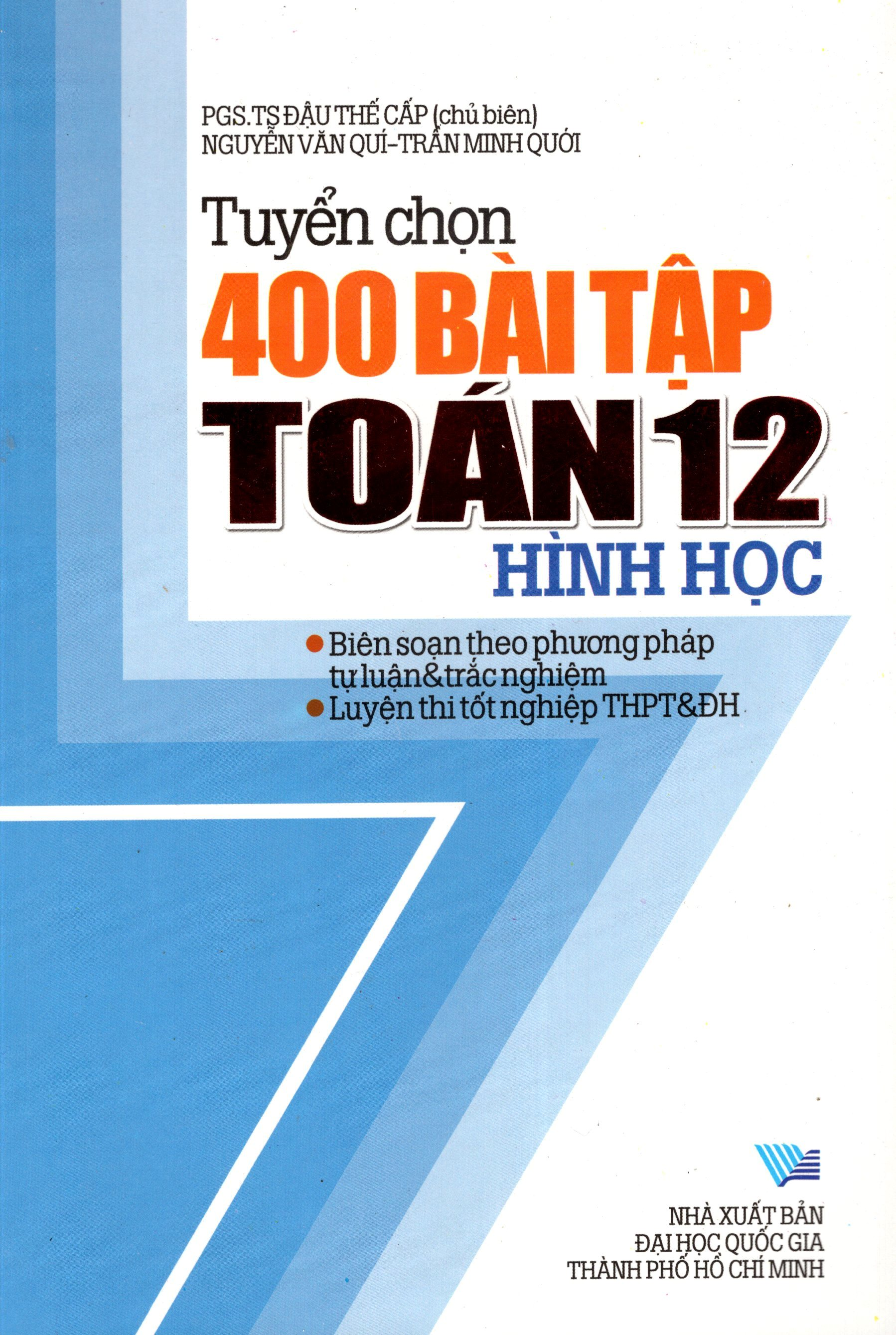 Tuyển Chọn 400 Bài Tập Toán Hình Học Lớp 12