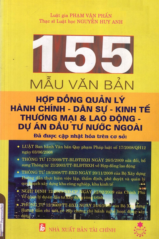 155 Mẫu Văn Bản Hợp Đồng QUản Lý Hành Chính - Dân Sự - Kinh Tế Thương Mại  Lao Động - Dự Án Đầu Tư Nước...