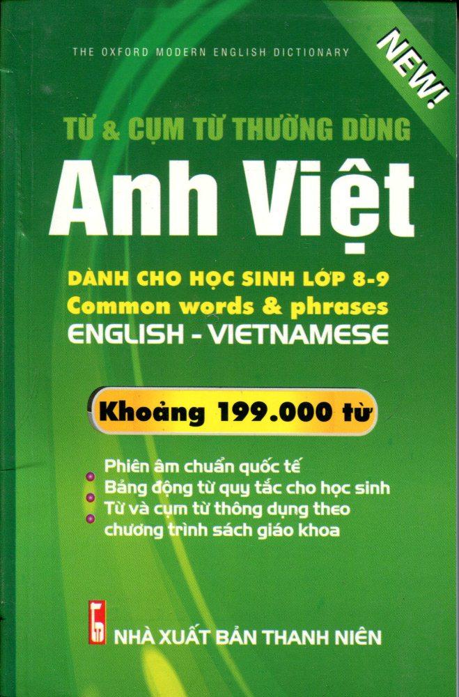 Từ Điển Anh – Việt Dành Cho Học Sinh Lớp 8 – 9