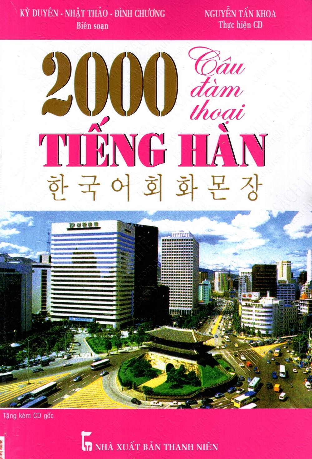 2000 Câu Đàm Thoại Tiếng Hàn (Kèm CD)