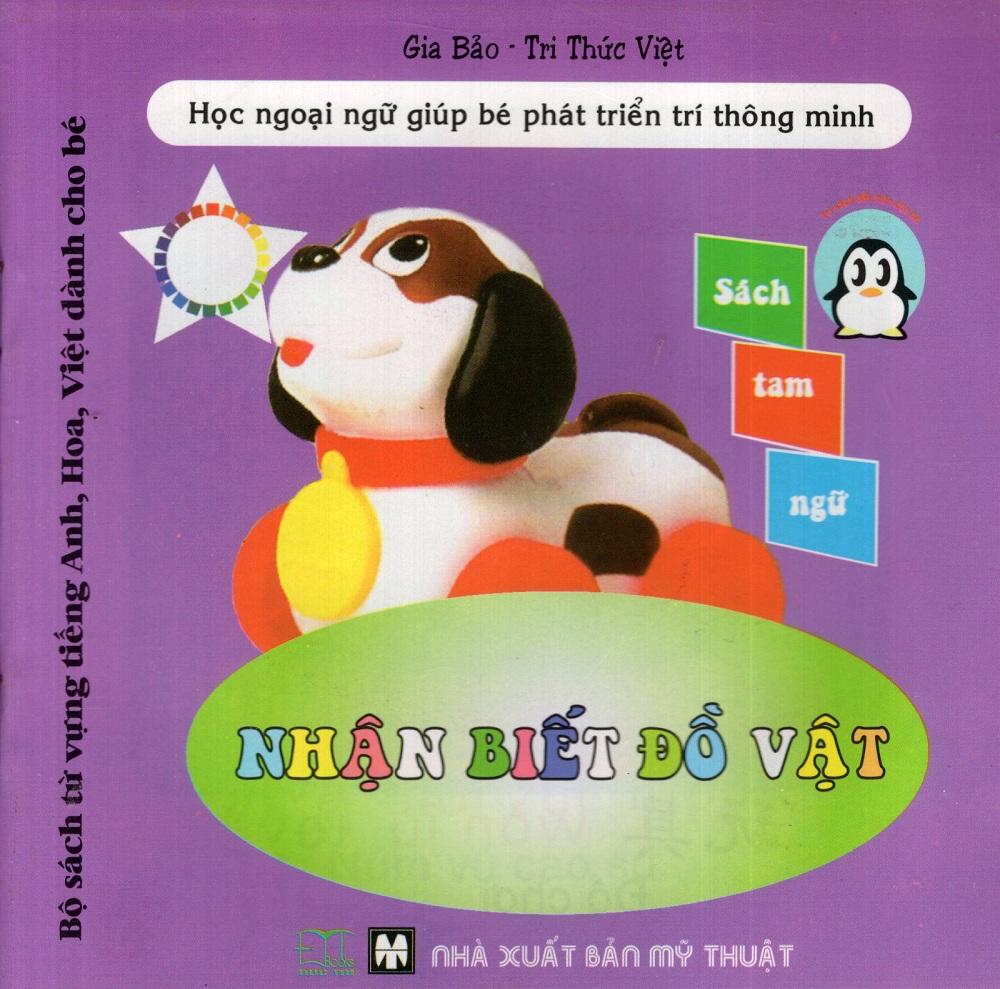 Bộ Sách Từ Vựng Tiếng Anh, Hoa, Việt Dành Cho Bé: Nhận Biết Đồ Vật