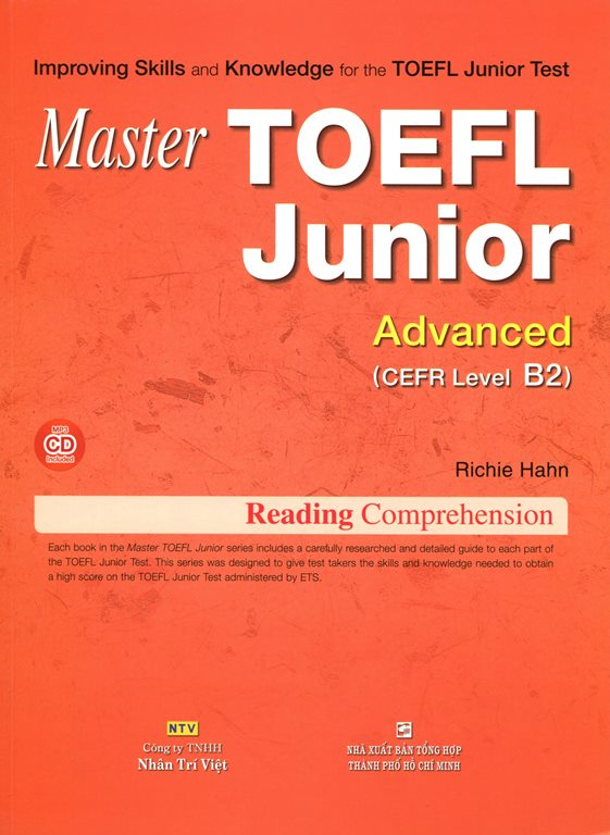 Master TOEFL Junior - Advanced Level B2 (Kèm CD)