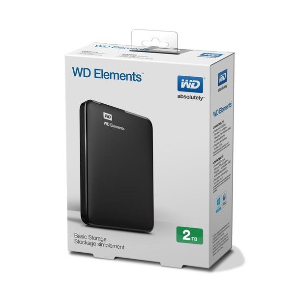 Ổ Cứng Di Động WD Elements 2TB 2.5 USB 3.0 - WDBU6Y0020BBK - Hàng chính hãng