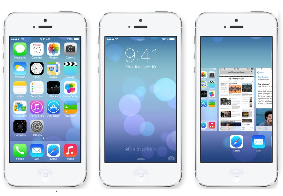 Giao diện iOS 7.0 trên iPhone 5S