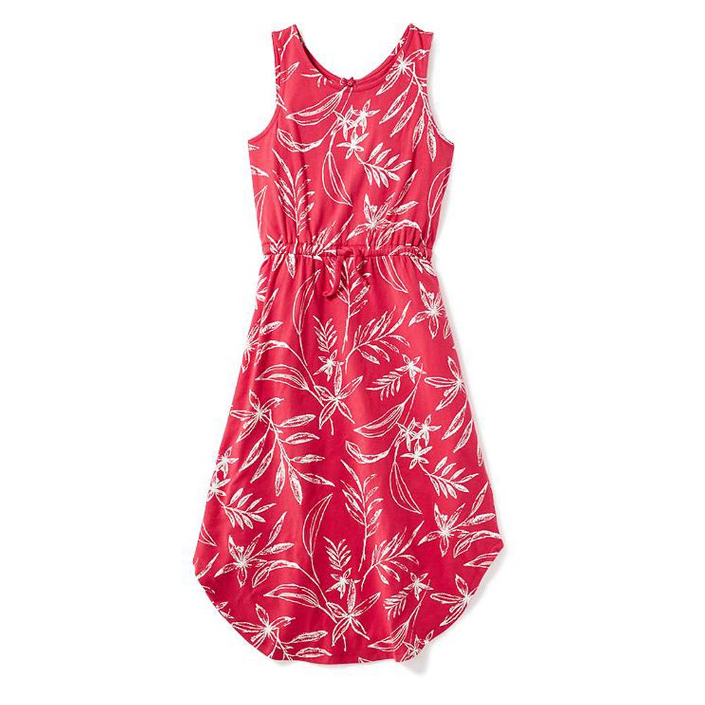 Đầm Thun Họa Tiết Hoa Lá Ginger World JB-HL – Đỏ