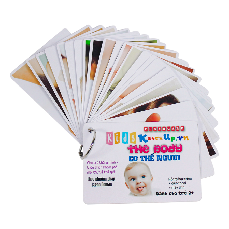 KatchUp Flashcard Tiếng Anh Cho Bé - Cơ Thể - High Quality