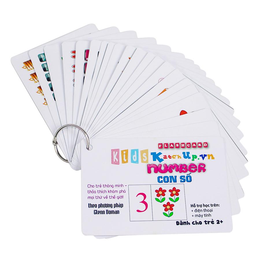 KatchUp Flashcard Tiếng Anh Cho Bé - Số - High Quality