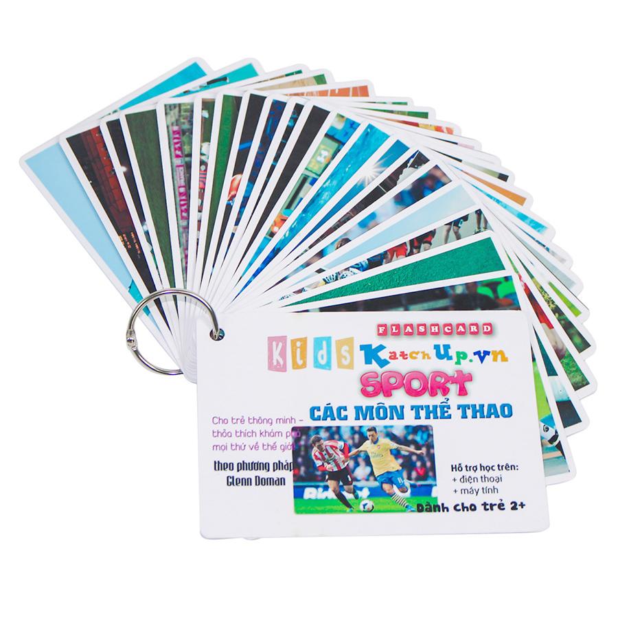 KatchUp Flashcard Tiếng Anh Cho Bé - Thể Thao - High Quality