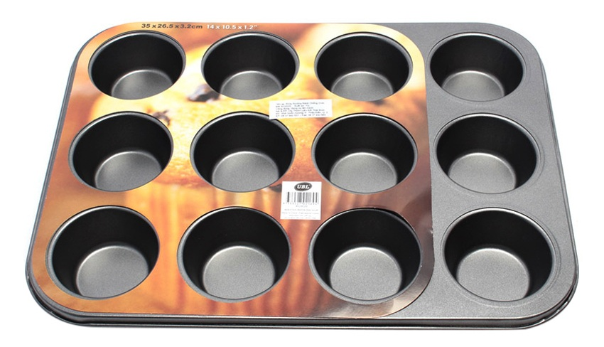 Khay Nướng Bánh Chống Dính 12 Khoanh Uncle Bills KC0020