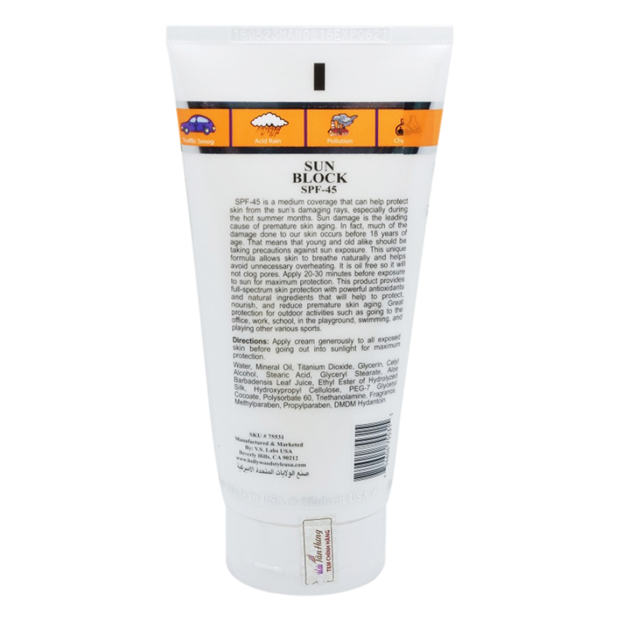 Kem Chống Nắng Hollywood Style Sunblock SPF 45 (150ml)