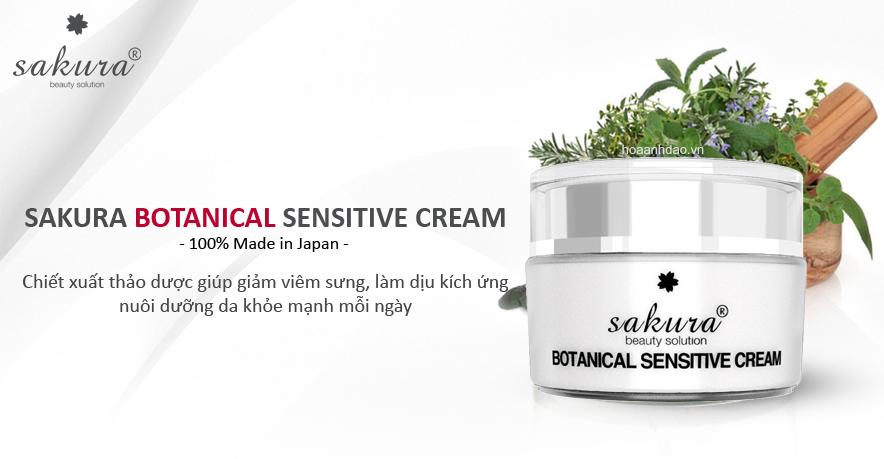 Kem Dưỡng Đặc Trị Dành Cho Da Nhạy Cảm Và Dễ Kích Ứng Sakura Botanical Sensitive Cream (30g)