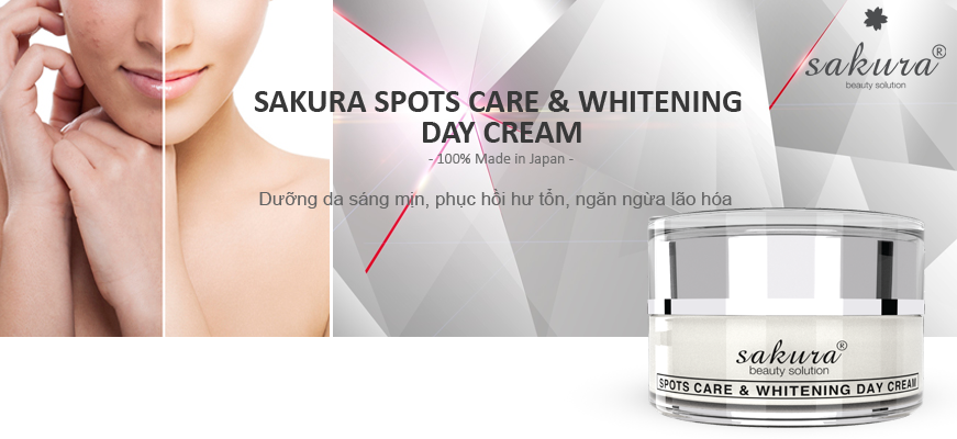 Kem Dưỡng Trắng Da hỗ trợ trị Nám Ban Ngày Sakura Spot Care & Whitening Day Cream SPF 50 (30g)