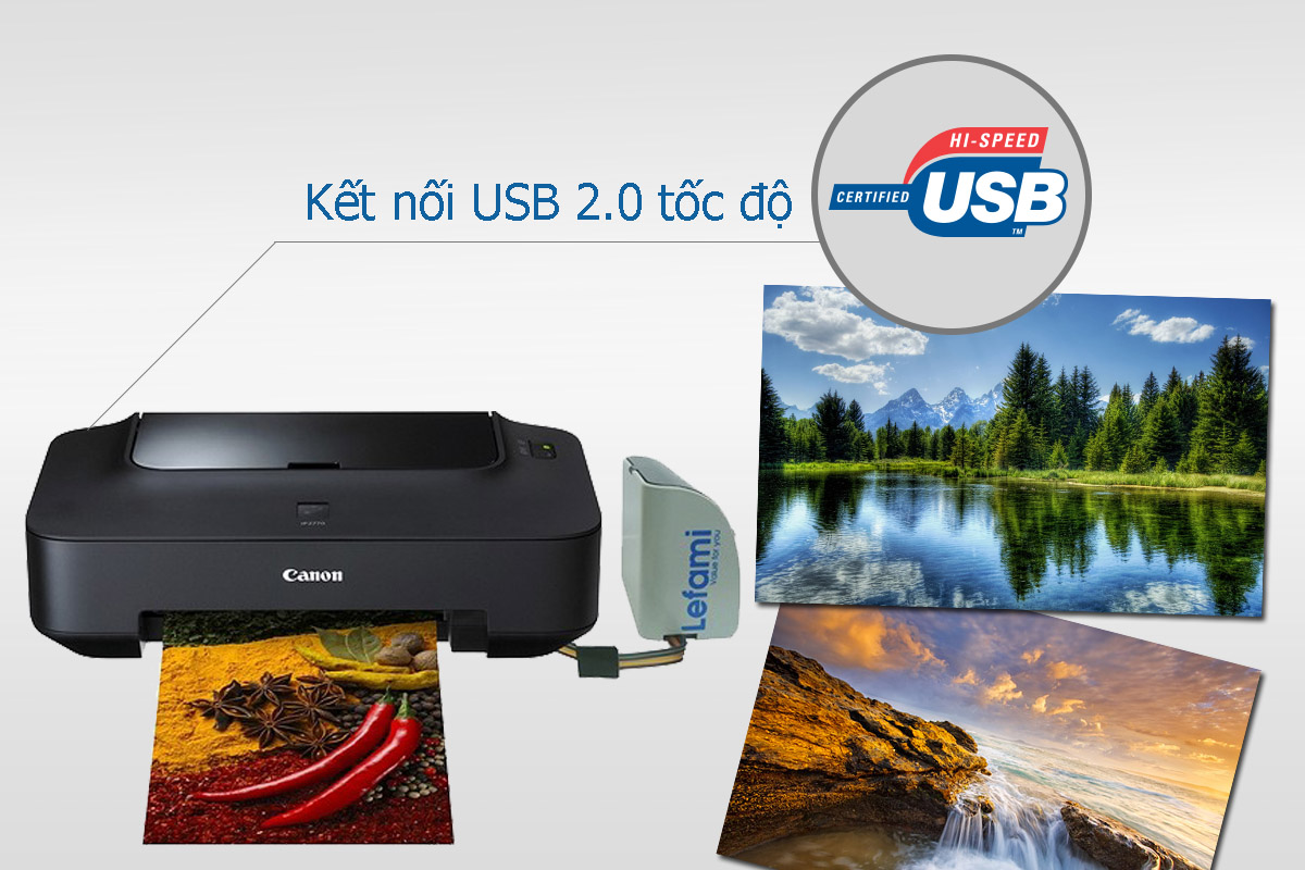 Máy In Canon Pixma iP2770 Gắn Bộ In Phun Liên Tục CISS