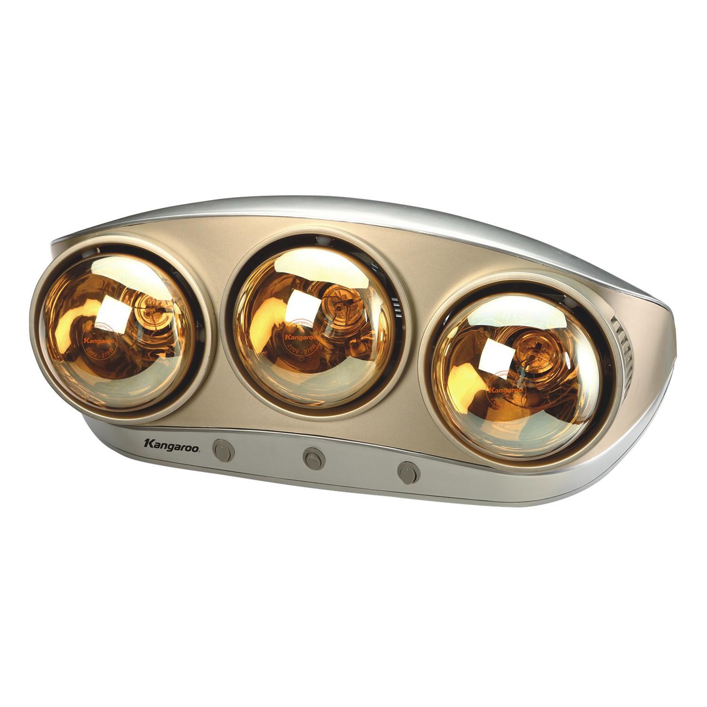 Đèn Sưởi Phòng Tắm Kangaroo KG250 - 3 Bóng - Hàng chính hãng