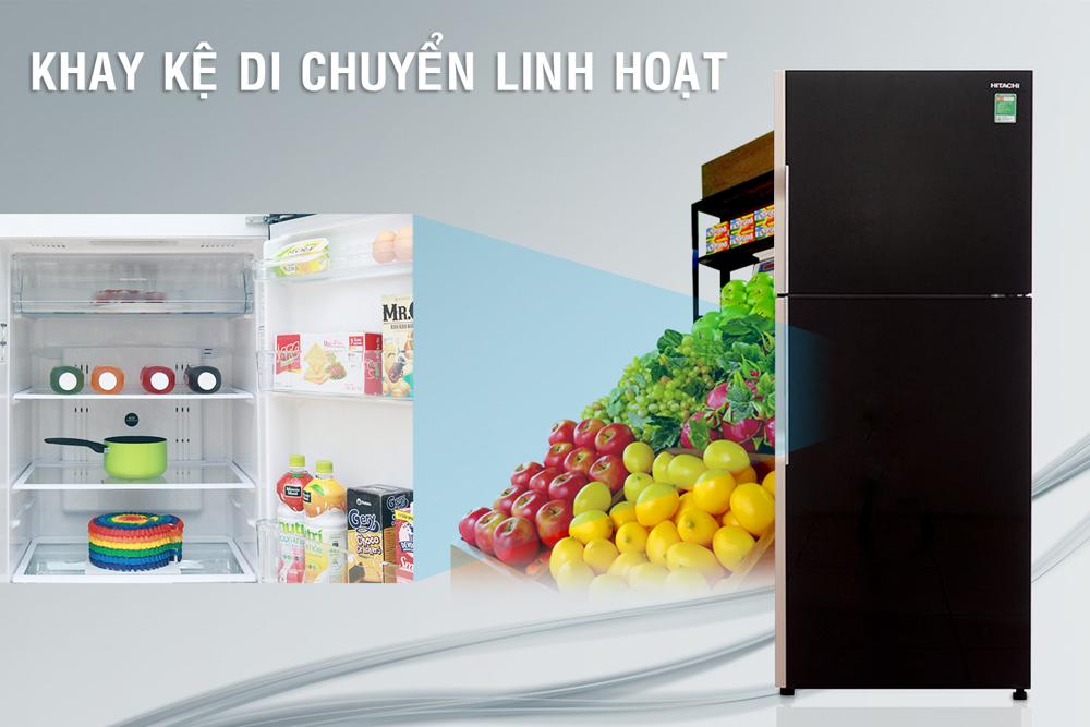 Tủ Lạnh Inverter Hitachi R-VG470PGV3-GBK (395L)