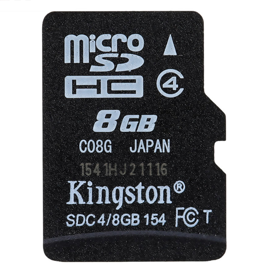 Thẻ Nhớ Điện Thoại Kingston Micro SDHC Class4 (8GB) - Đen - Hàng Chính Hãng