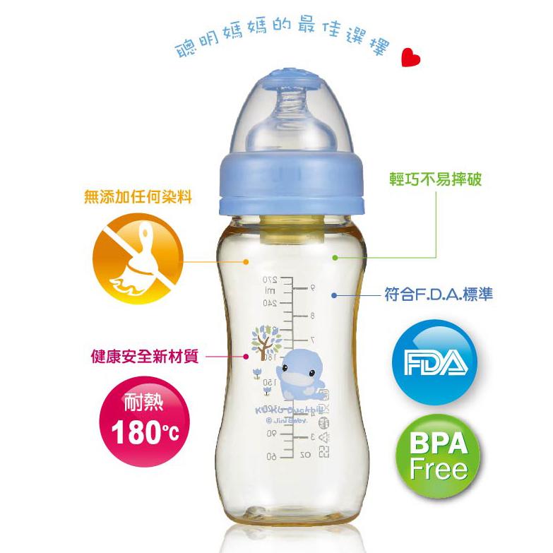 Bình Nhựa PES Cổ Rộng Kuku KU5827 (280ml)