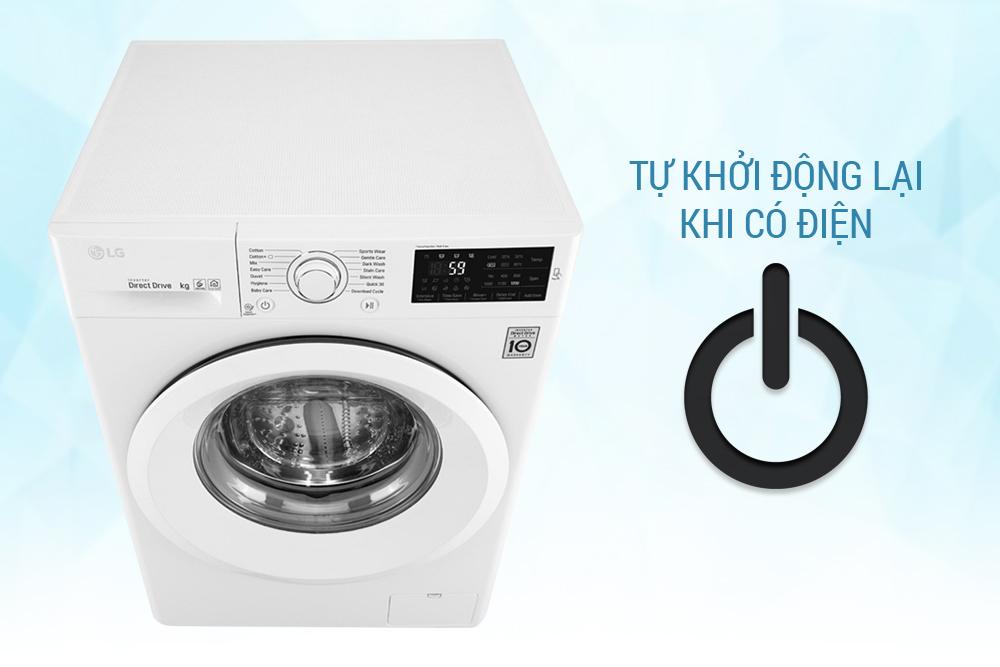 Máy Giặt Cửa Ngang Inverter LG FC1475N5W2 (7.5kg)
