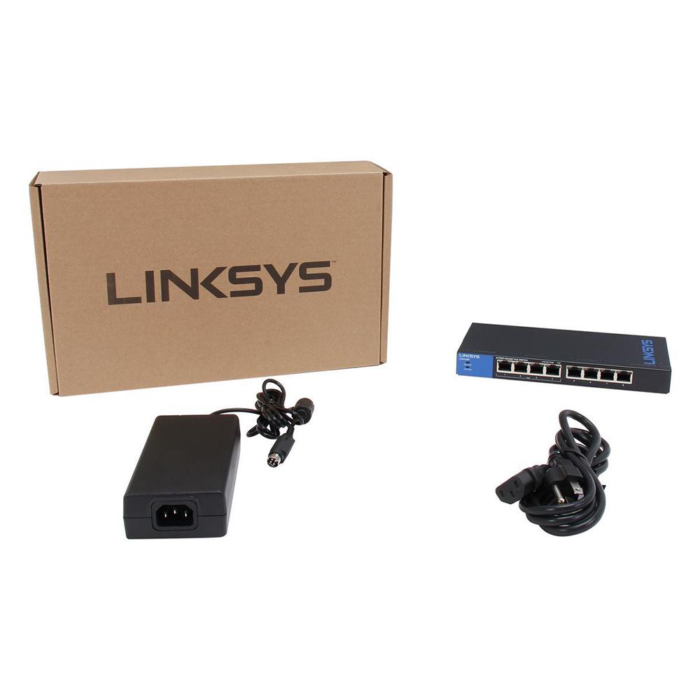 Linksys LGS108P - Unmanaged Switch PoE+ - Hàng chính hãng