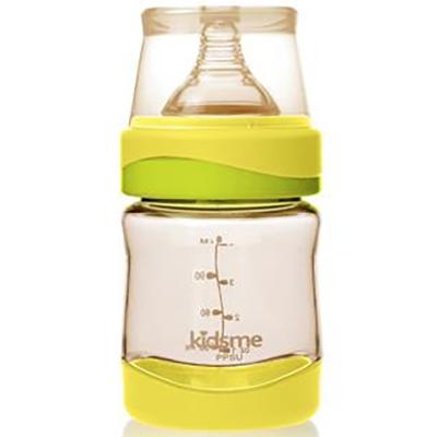 Bình Sữa Nhựa PP Cổ Rộng Kidsme PPSU 160226 LI - Màu Chanh(120ml)