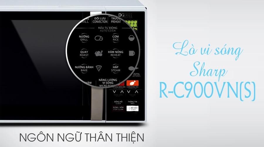 Lò Vi Sóng Điện Tử Dòng Nướng Đối Lưu Sharp R-C900VN(S) (26L)