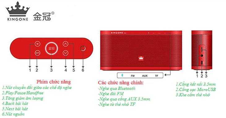 Loa Bluetooth Kingone K9