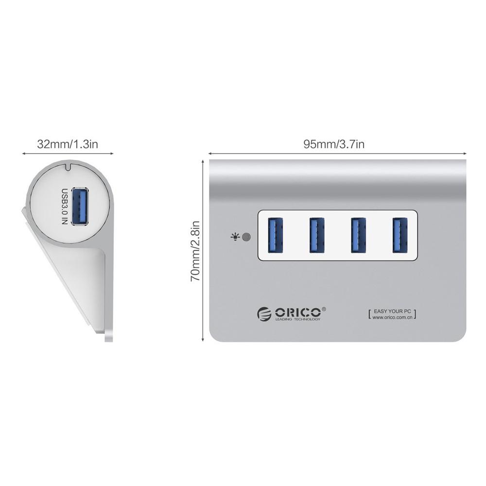 Hub USB 3.0 Orico 4 Cổng M3H4-V1 - Hàng Chính Hãng