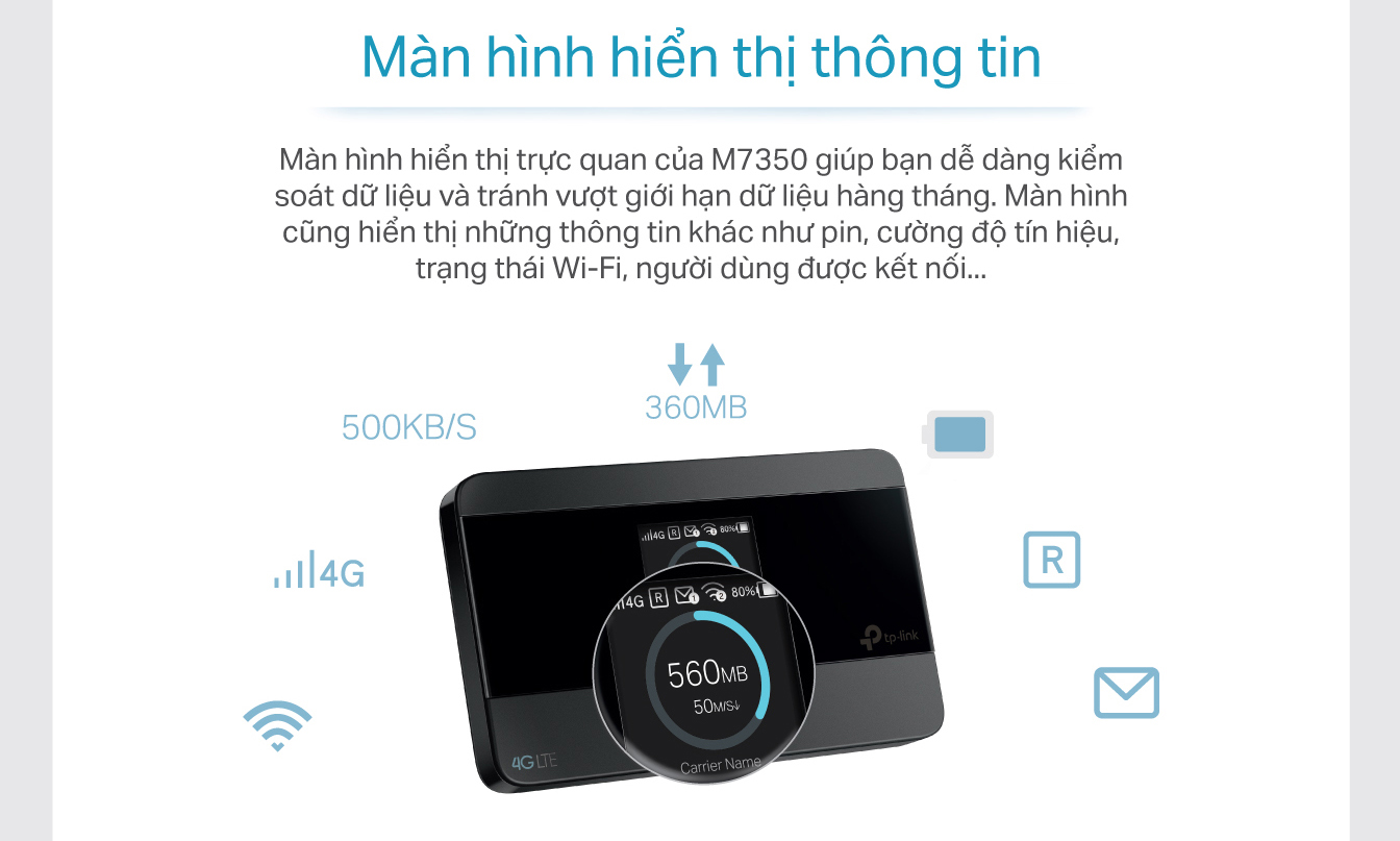 TP-Link  M7350 - Wifi Di Động 4G LTE-Advanced